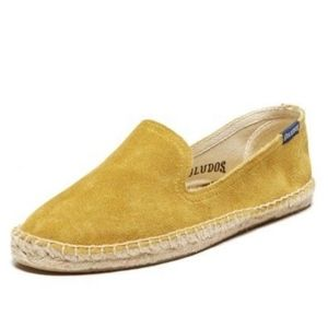 Soludos Seude Mustard Yellow Smoking Slipper NIB